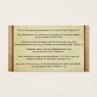 Gospel Tract Plan of Salvation Good News Christian Business Card