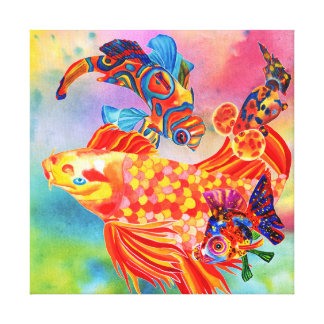 Gossiping fish canvas print