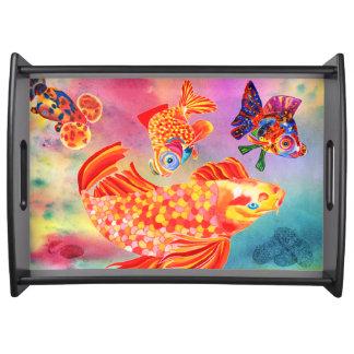 Gossiping fish serving tray