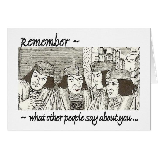 Gossips? Funny 12 Step Recovery Greeting Card