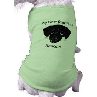 Got a beagle best friend? sleeveless dog shirt