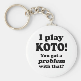 Got A Problem With That, Koto Basic Round Button Key Ring