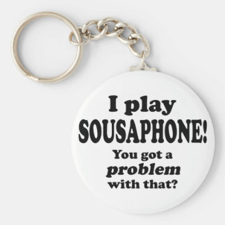 Got A Problem With That, Sousaphone Basic Round Button Key Ring
