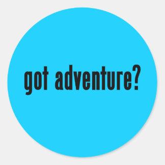 got adventure? round sticker