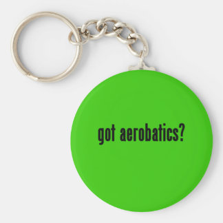 got aerobatics? basic round button key ring