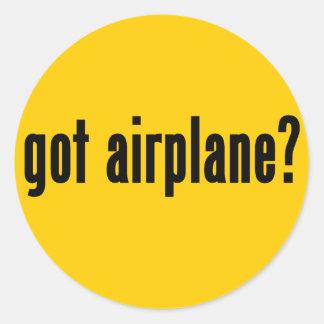 got airplane? classic round sticker