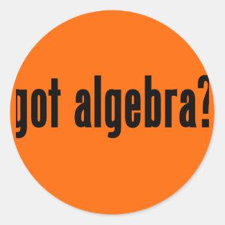 got algebra? classic round sticker