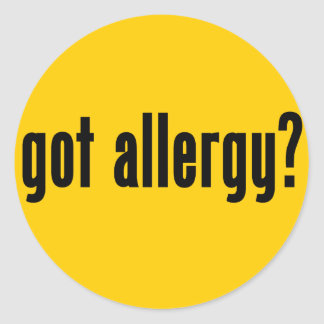 got allergy? classic round sticker