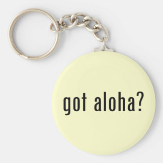 got aloha? basic round button key ring