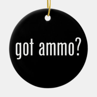 Got ammo? - single-sided christmas ornament