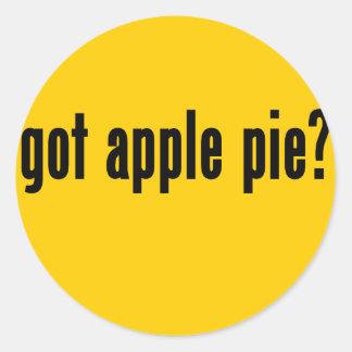 got apple pie? classic round sticker