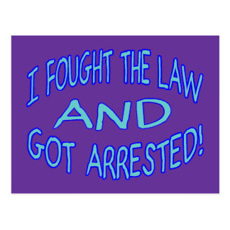 Got Arrested Postcard