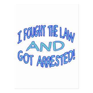 Got Arrested Postcards