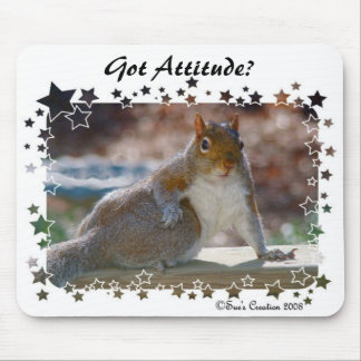 Got Attitude? Squirrel Mouse Pads
