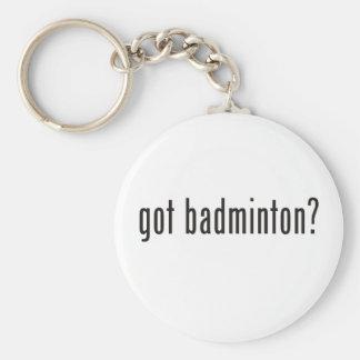 got badminton? basic round button key ring