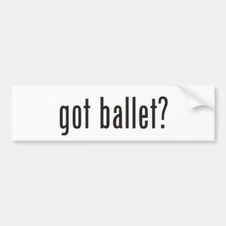 got ballet? bumper sticker