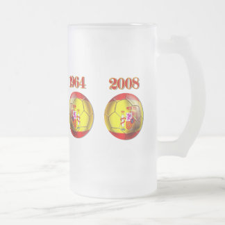 Got Balls ? Spain 1964 and 2008 Champions balls Frosted Glass Mug