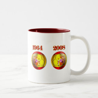 Got Balls ? Spain 1964 and 2008 Champions balls Two-Tone Mug