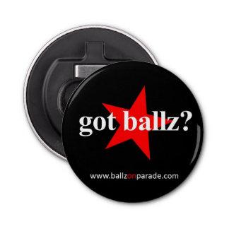 Got Ballz? Button Bottle Opener