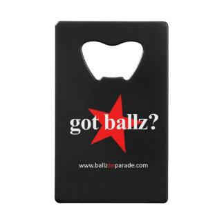 Got Ballz? Wallet Bottle Opener