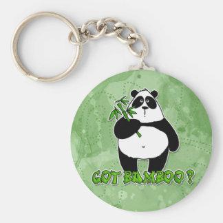 got bamboo? basic round button key ring