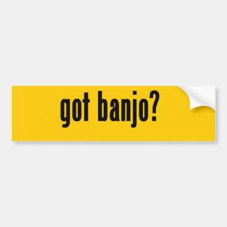 got banjo? car bumper sticker