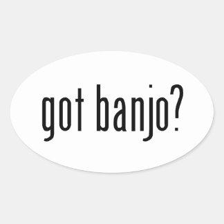 got banjo? oval sticker