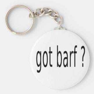 GOT BARF BASIC ROUND BUTTON KEY RING