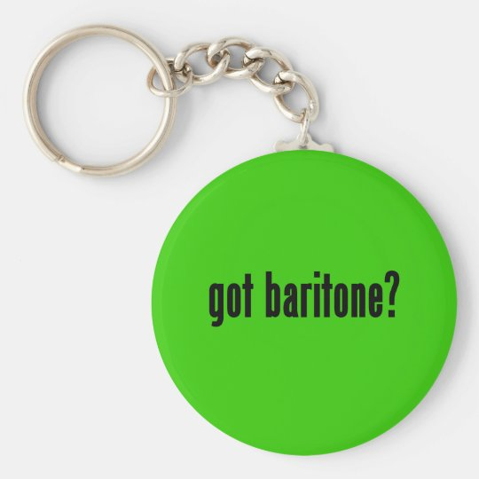 got baritone? basic round button key ring