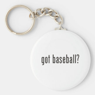 got baseball? basic round button key ring