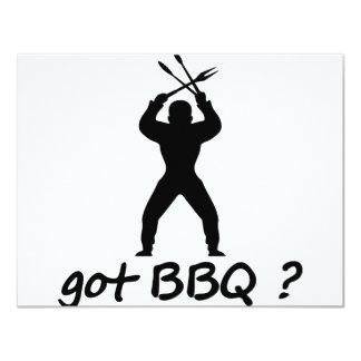 got BBQ? icon 11 Cm X 14 Cm Invitation Card