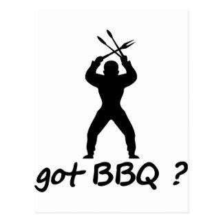 got BBQ? icon Postcard