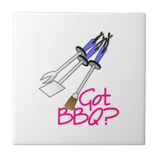 Got BBQ? Small Square Tile