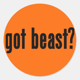 got beast? classic round sticker
