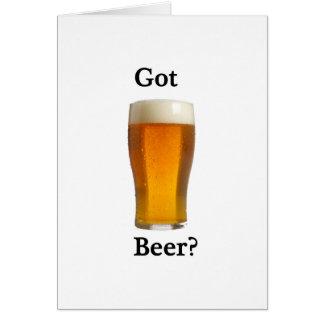 Got beer? greeting card