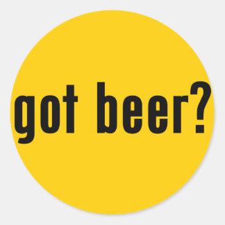 got beer? classic round sticker