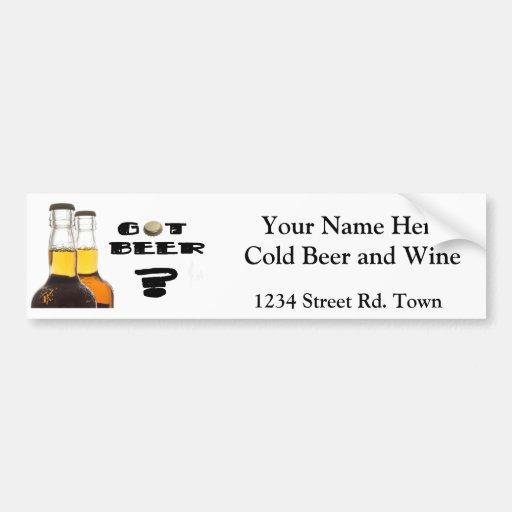Got Beer? Funny Brewery or UBrew  bumper sticker