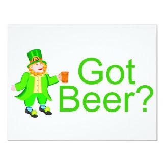 Got Beer Leprechaun 11 Cm X 14 Cm Invitation Card