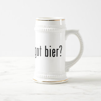 got bier? beer stein
