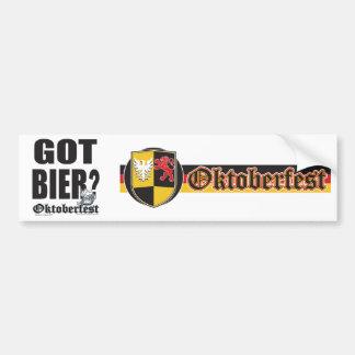 Got Bier - Oktoberfest Bumper Sticker