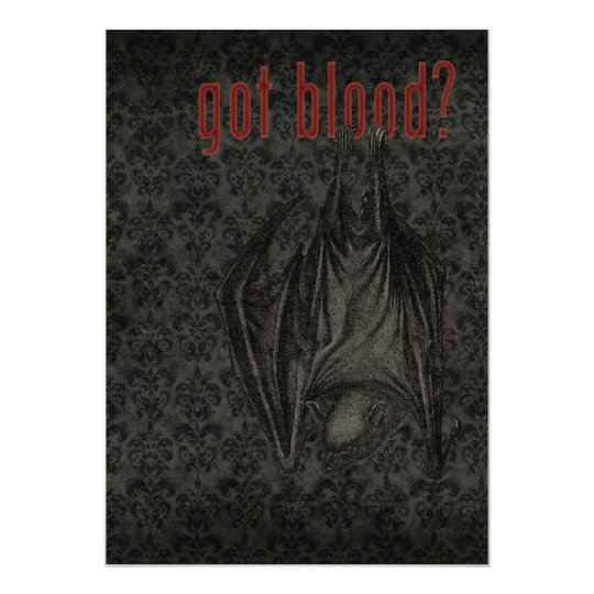 Got Blood? Halloween Party Invitation