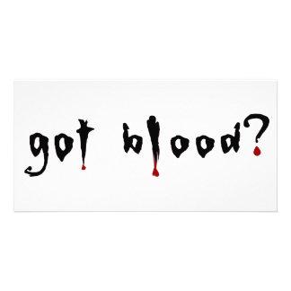got blood photo card template