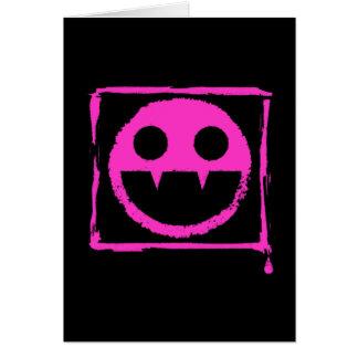 got blud smily ded girl vamp Smily n' Fangs!! Note Card