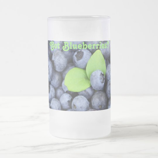 Got Blueberries? Frosted Glass Beer Mug