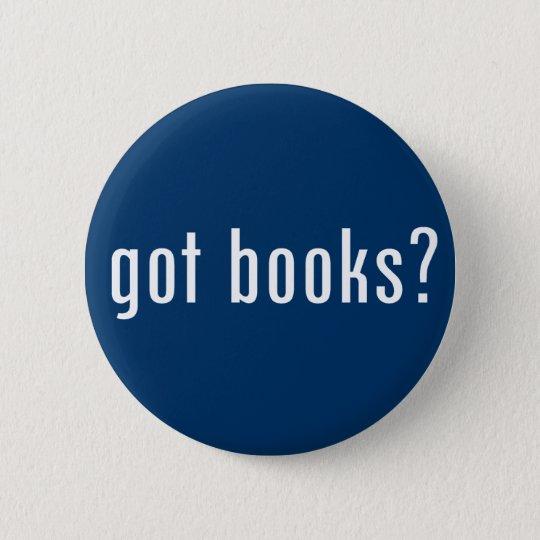 got books? 6 cm round badge