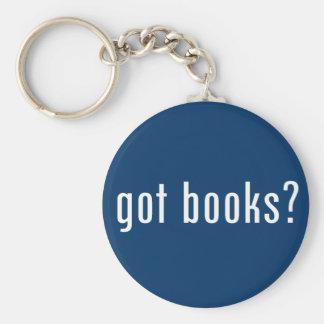 got books? basic round button key ring