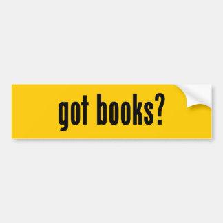 got books? car bumper sticker