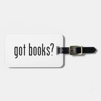 got books? luggage tag