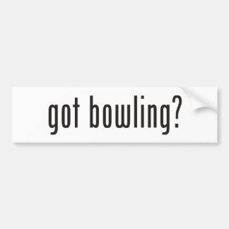 got bowling? bumper sticker