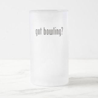 got bowling? 16 oz frosted glass beer mug